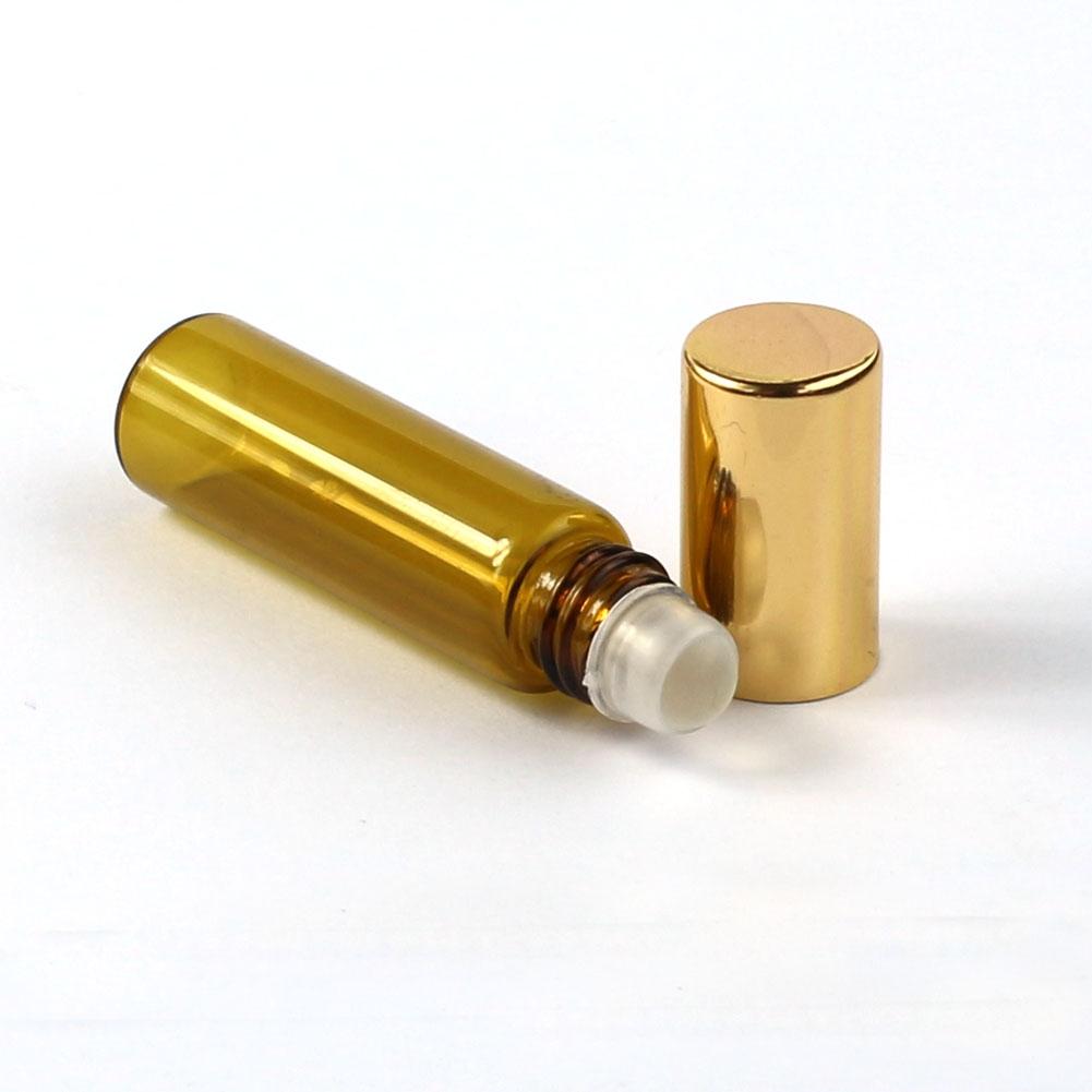 3ml 5ml 10ml Amber Roll On Glass Bottles Essential Oil