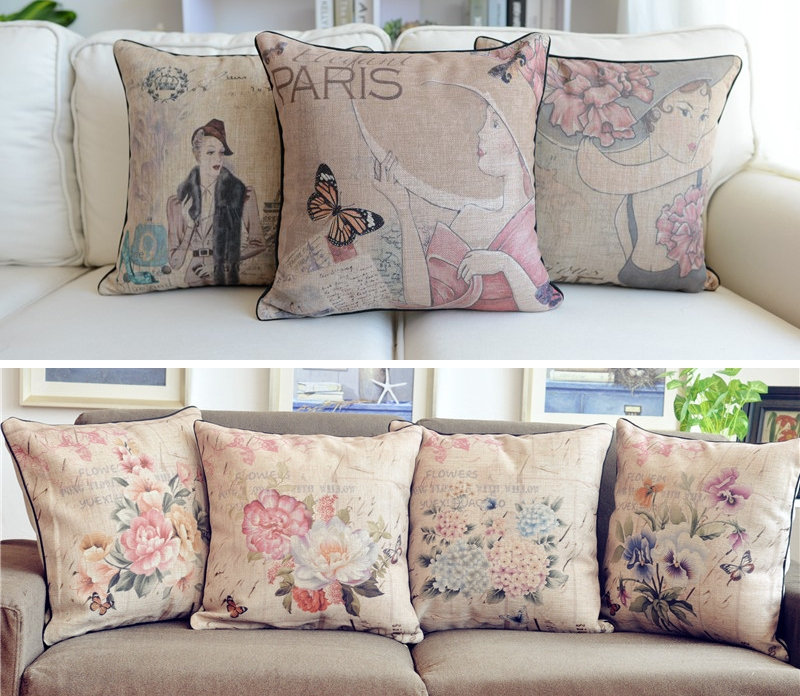 Shabby Chic Floral Throw Pillows : 18