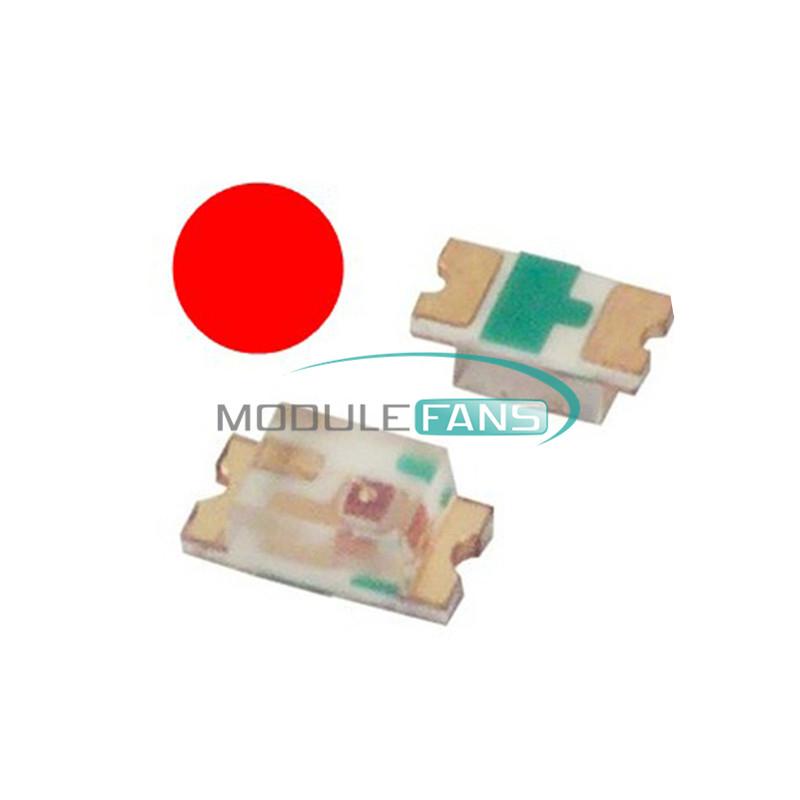 100Pcs SMD SMT 0603 Series LED Super Ultra Bright Red Color Light DIY Lamp NEW