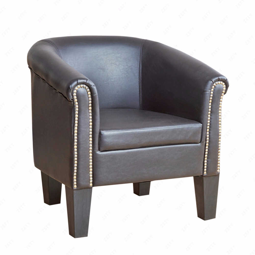Stupendous Details About Stylish Club Tub Chair Rivets Armchair Pu Leather Living Room Bucket Seat Brown Creativecarmelina Interior Chair Design Creativecarmelinacom