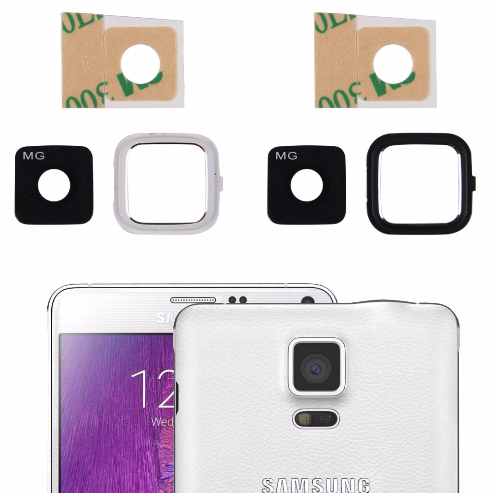 Camera glass lens cover with frame holder for samsung galaxy note 4 white black ebay - Reparation telephone lens ...