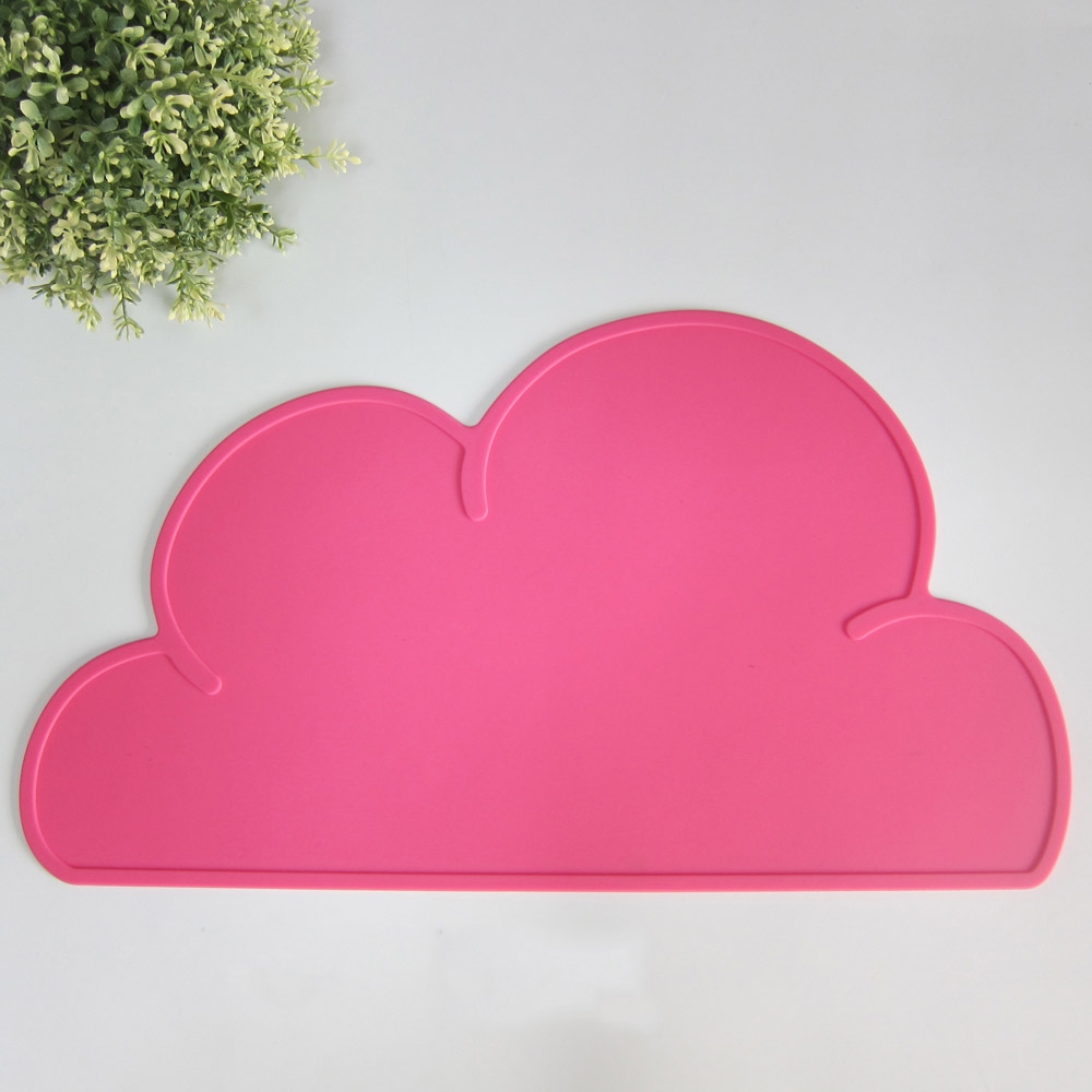 ins baby food mat cloud placemat table mat silicone mat dining table placemats ebay. Black Bedroom Furniture Sets. Home Design Ideas