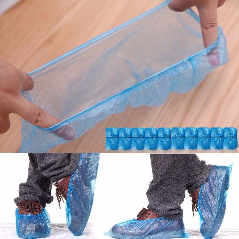100 Pc Household Rain Waterproof Disposable Shoe Covers ...