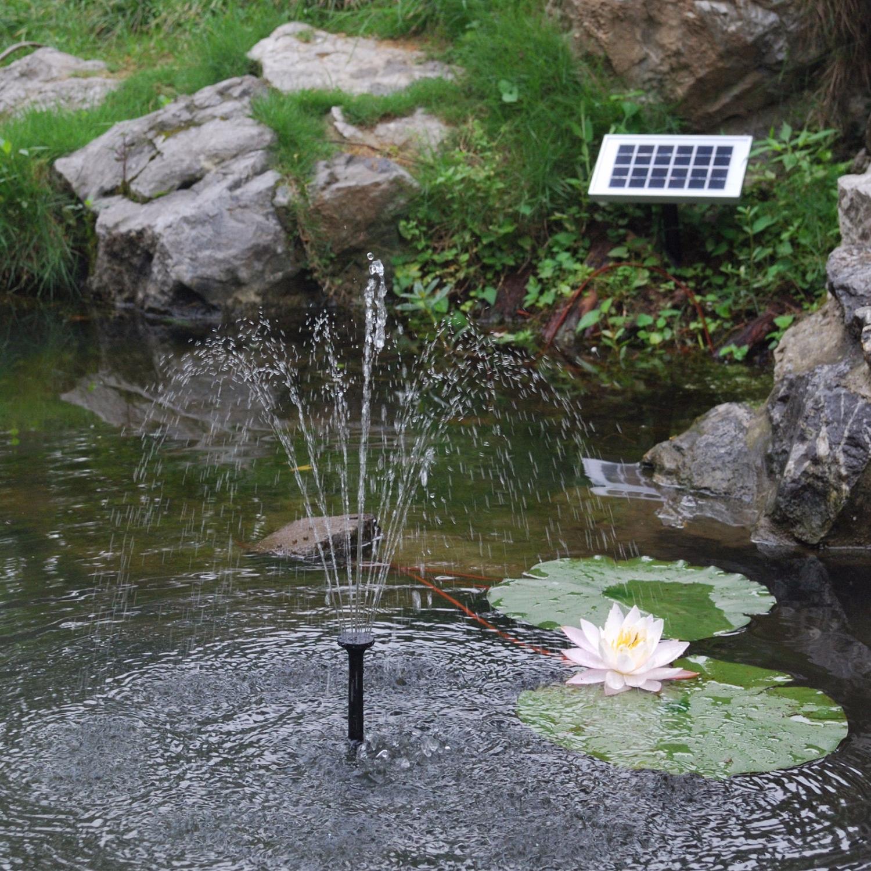 5w solar springbrunnen teich pumpe garten solarteichpumpe font ne wasserspiel ebay. Black Bedroom Furniture Sets. Home Design Ideas
