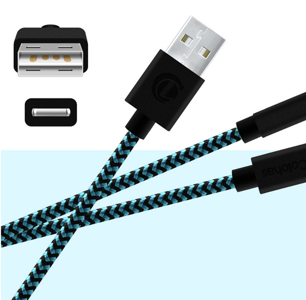 strong braided micro usb charger cable data sync charge. Black Bedroom Furniture Sets. Home Design Ideas