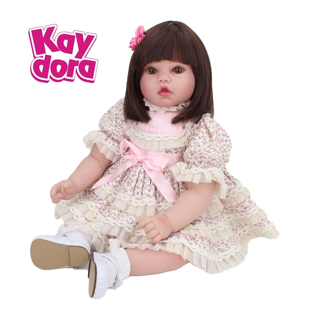 Handmade Lifelike Baby Girl Doll Soft Vinyl Real Life