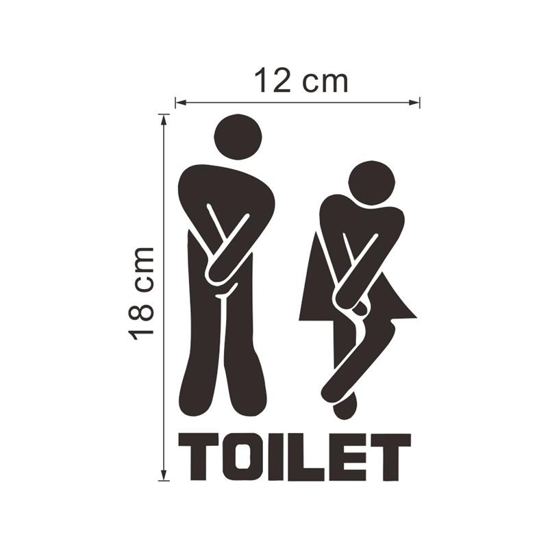 Bathroom Wall Sticker Removable Art Vinyl Mural Room Toilet Door Vinyl Decal AP