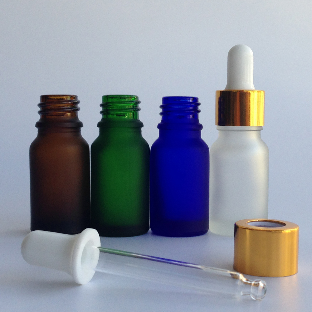 Ml frosted glass dropper bottles vials essential oil