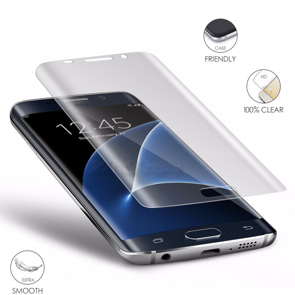 3d curved cover pet screen protector for samsung galaxy s7. Black Bedroom Furniture Sets. Home Design Ideas