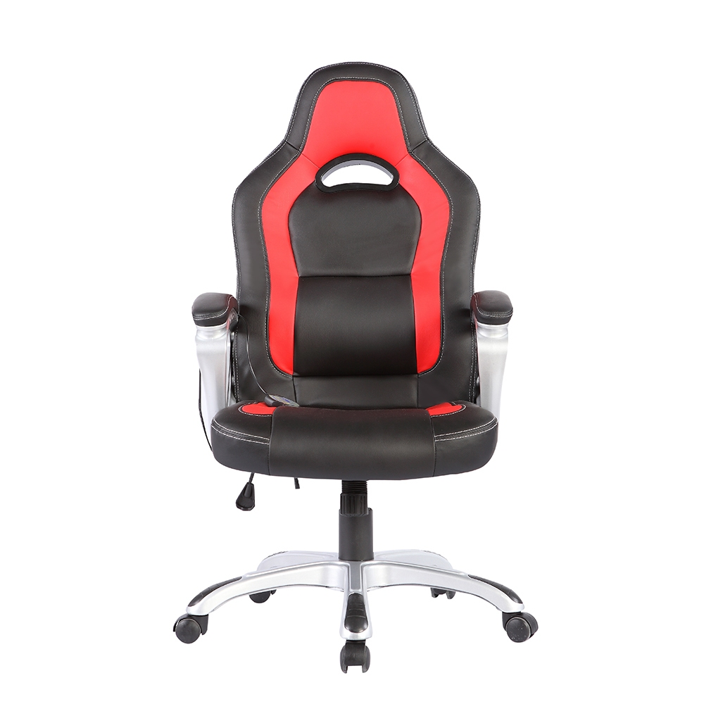 Heated Vibrating Race Car puter fice Massage Chair PU
