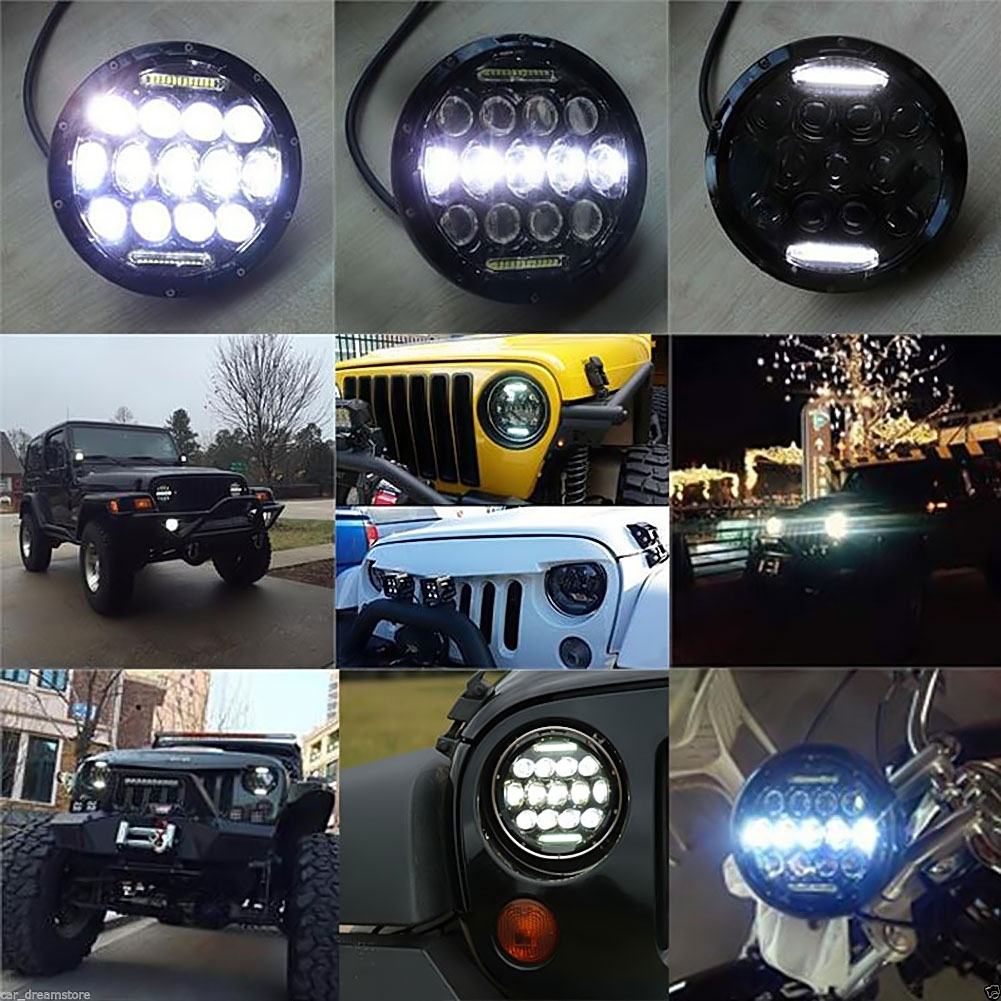 Women S Headlights : Inch w led headlight h drl high low beam for jeep