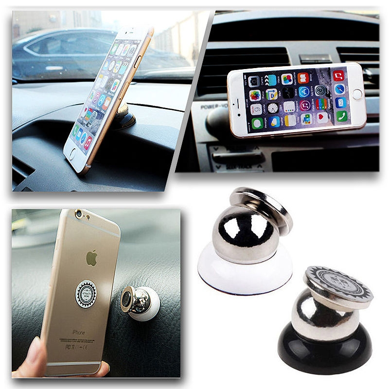 Universal 360 Magnetic Cell Mobile Phone Car Dash Holder Magic Stand Mount Black