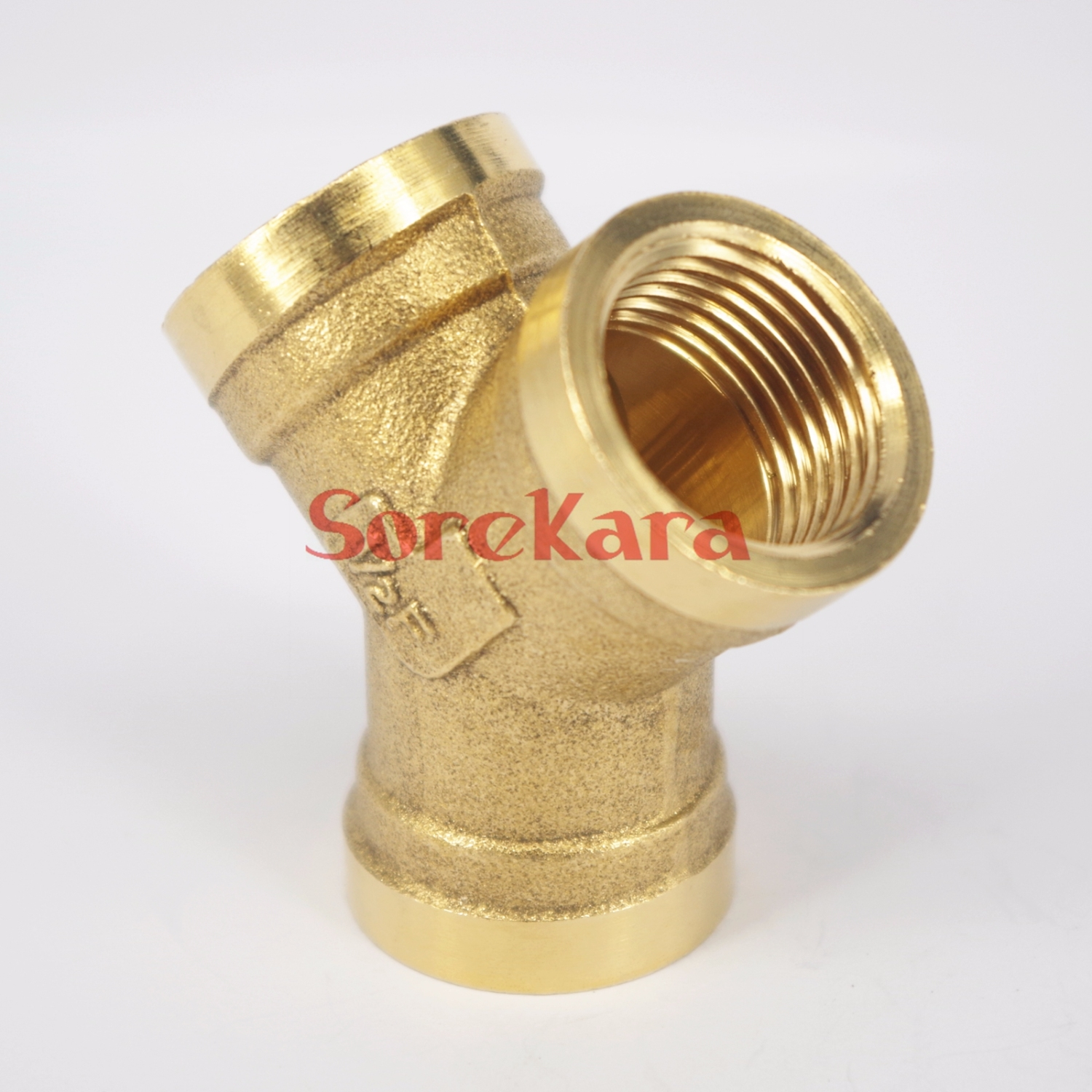 Y ways brass pipe fitting connector quot bsp equal