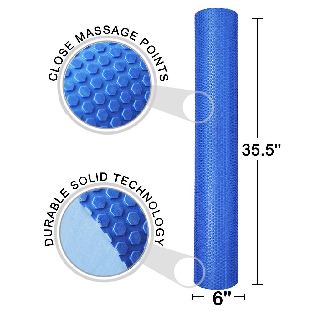 Muscle foam roller 3 in 1 buy foam roller foam roller 3 in 1 muscle - Fitmall 36x6 Quot High Density Foam Roller Muscle Massage