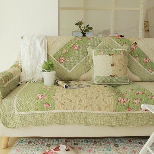 Shabby Chic Cottage Country Quilted Couch Sofa Loveseat Protector Cover Mat B Ebay
