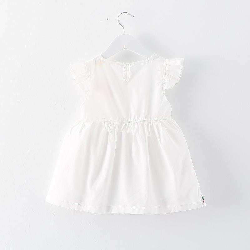 12a37983231e4f Baby Girl Newborn Toddler Infant Strawberry Flower White Dress Summer  Clothing 0-3 Years