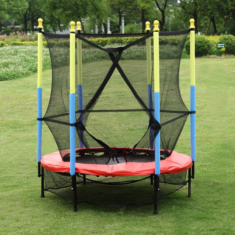 55 Quot Round Kids Mini Trampoline Combo W Enclosure Net Pad
