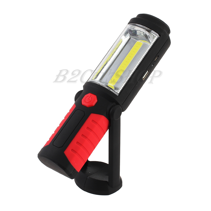 LED Hand Torch Lamp Magnetic Inspection Work Light Flexible UK Rechargeable COB