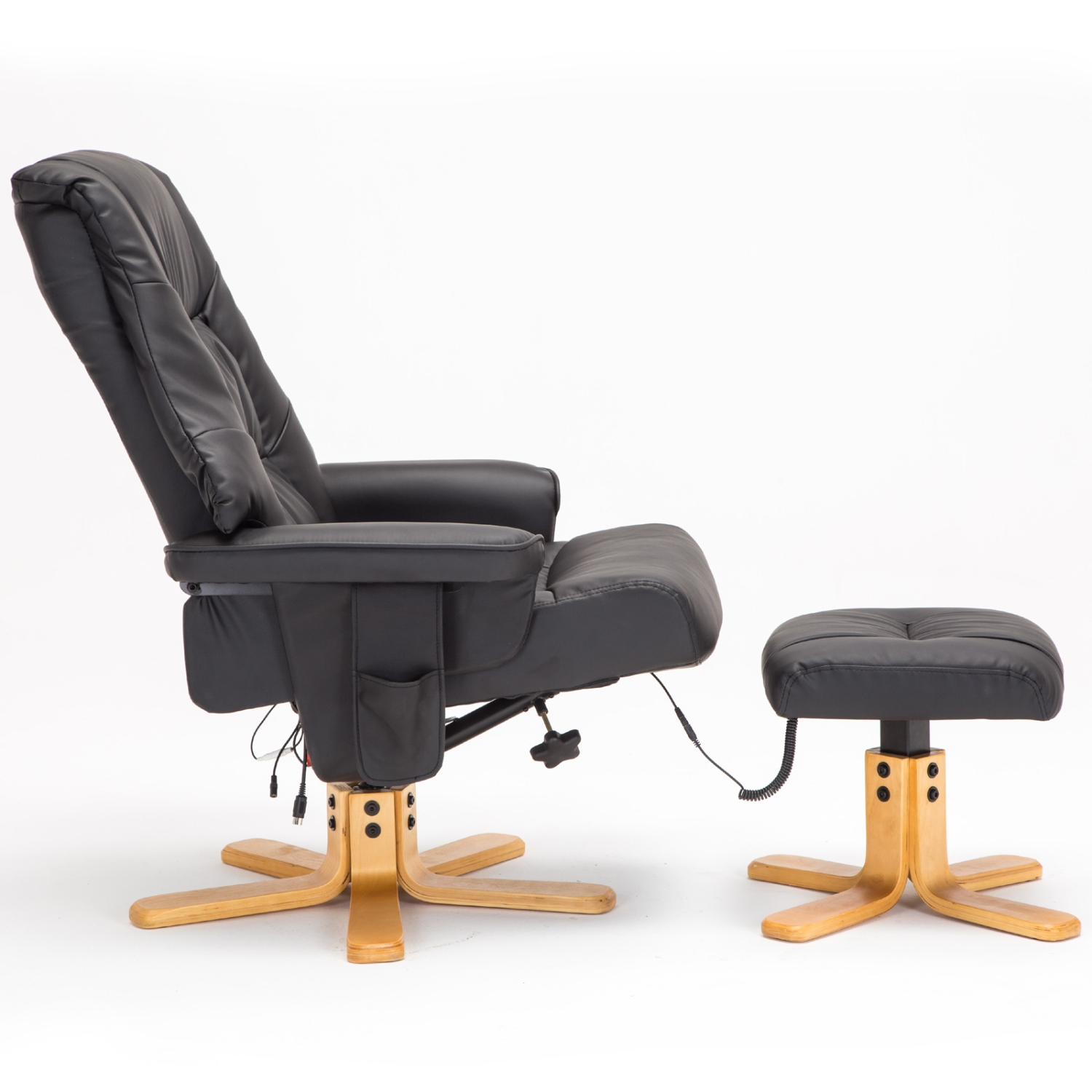 massage leisure recliner chair swivel bonded leather armchai
