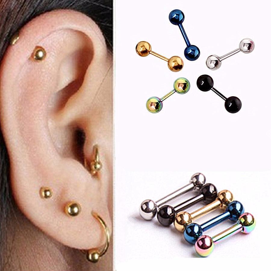 1 paire boucle d 39 oreille tragus oreille helix cartilage acier halt re piercing ebay. Black Bedroom Furniture Sets. Home Design Ideas