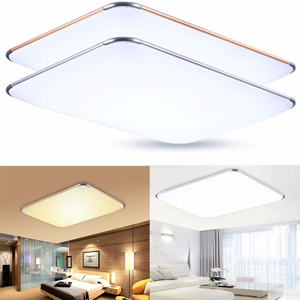 led ultraslim 96w deckenleuchte k che panel lampe dimmbar wohnzimmer flurleuchte ebay. Black Bedroom Furniture Sets. Home Design Ideas