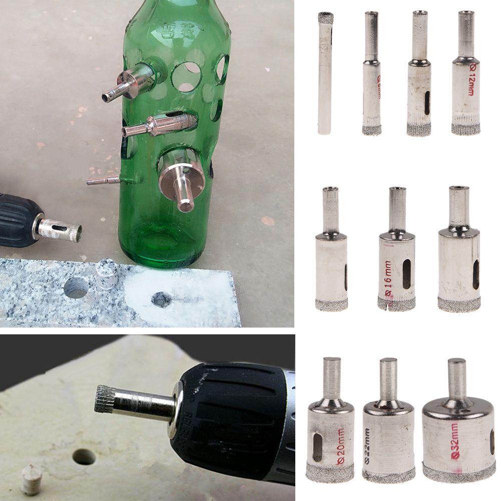 10x punte trapano rivestita frese per vetro granito marmo piastrelle 6 32mm ebay - Frese per piastrelle ...