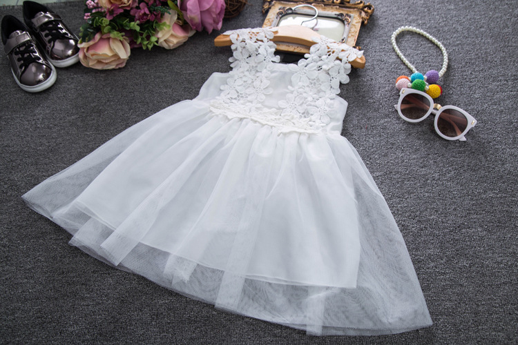 Baby Girl Kids Princess Dresses White Lace Dress Tutu Party Wedding ...