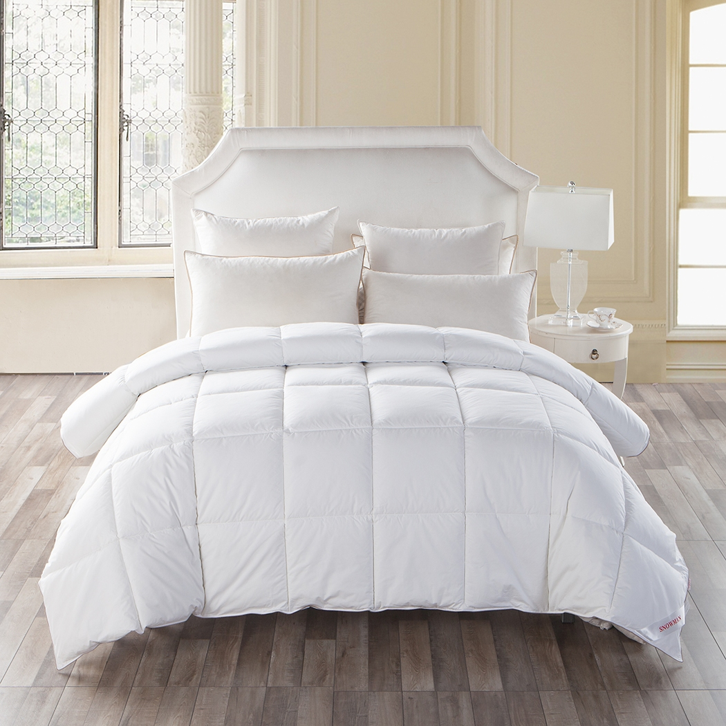 all season collection fluffy white goose down alternative comforter king size ebay. Black Bedroom Furniture Sets. Home Design Ideas