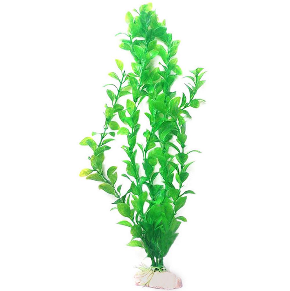 Long plastic grass aquarium water ornament simulation for Plastic pond plants