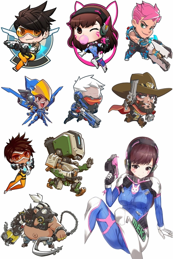 Overwatch Reaper Winston Tracer D.va All Characters ...