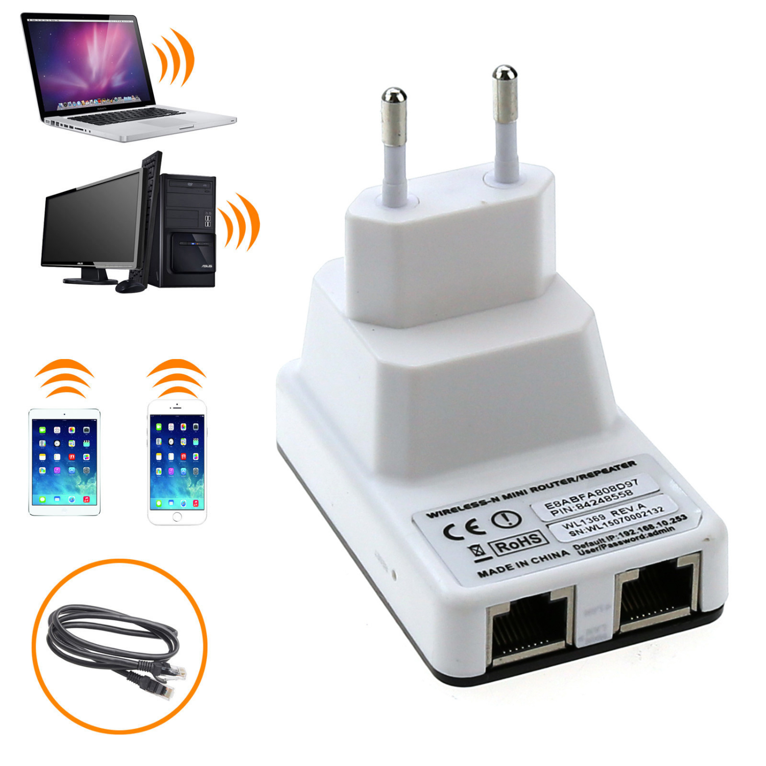 Newest Wireless WiFi Repeater Router Signal Range Extender
