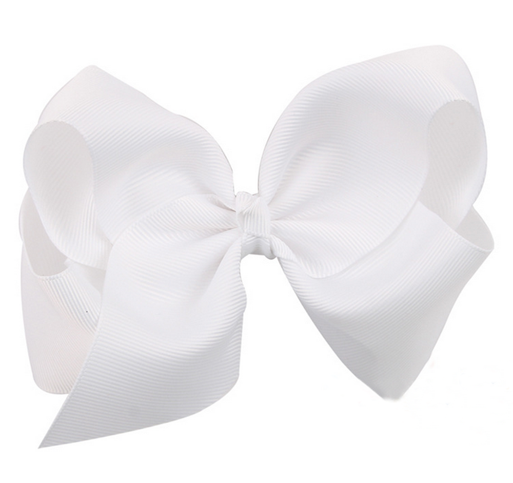 AM/_ 6Inch Large Girl Baby Boutique Hair Accessory Knot Hair Bow Alligator Clip G