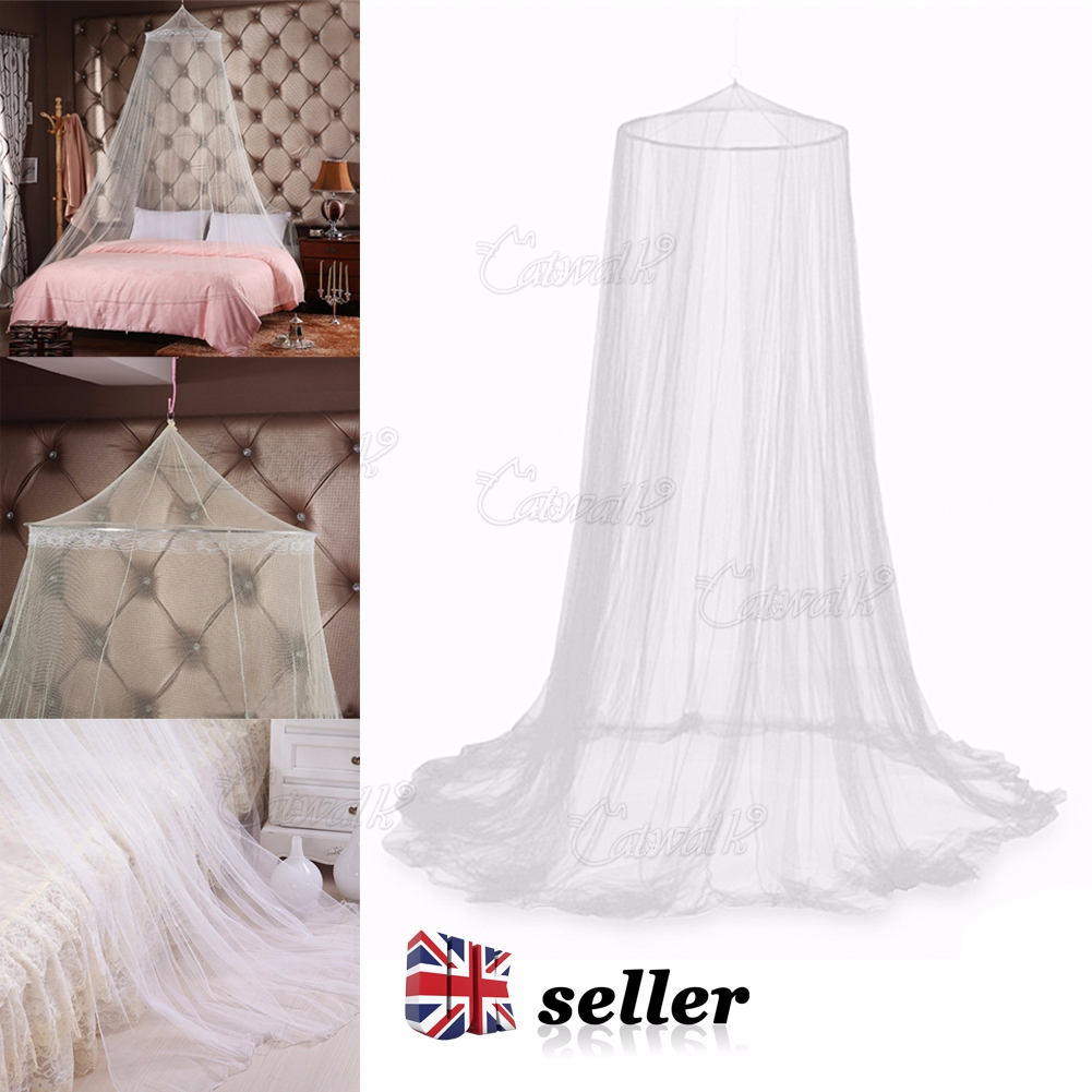 Uk Mosquito Net Bed Canopy Netting Curtain Dome Fly Midges Insect Stopping White Ebay