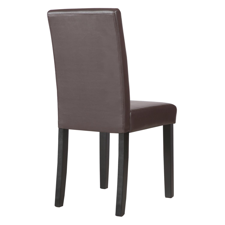 set of 2 kitchen dinette dining room chair design brown leather backrest ebay