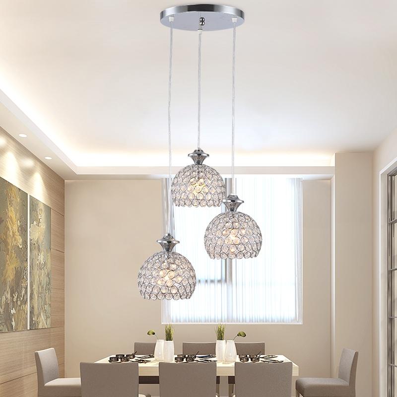Led kristall h ngeleuchte kronleuchter deckenlampe - Lampadari sala da pranzo ...