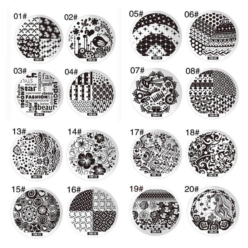 10 diy schablone nail art bild stempel stamper platte. Black Bedroom Furniture Sets. Home Design Ideas