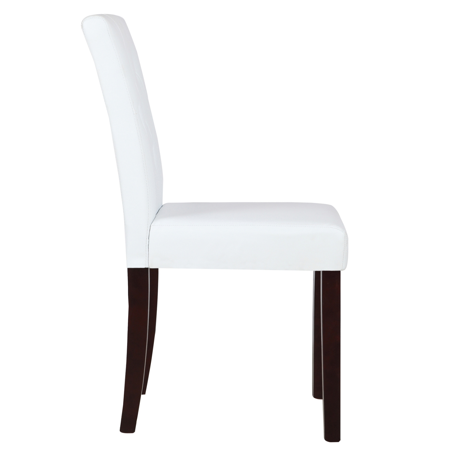 Set Of 4 Dining Chair White Leather Kitchen Dining Room