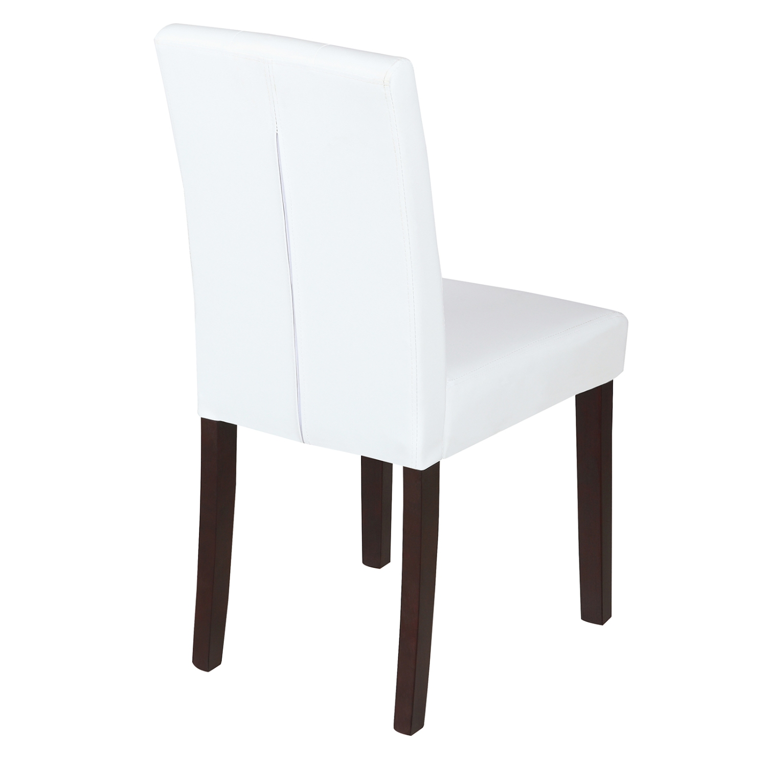 Kitchen Chairs White: Elegant Ivory White Leather Dining Room Chair Kitchen