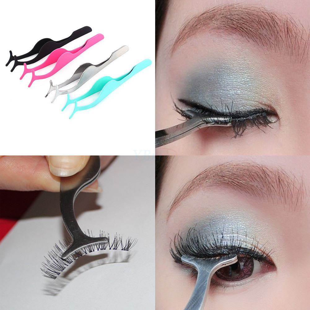 False Eyelash Fake Eye Lash Applicator Clip Makeup Tweezer ...
