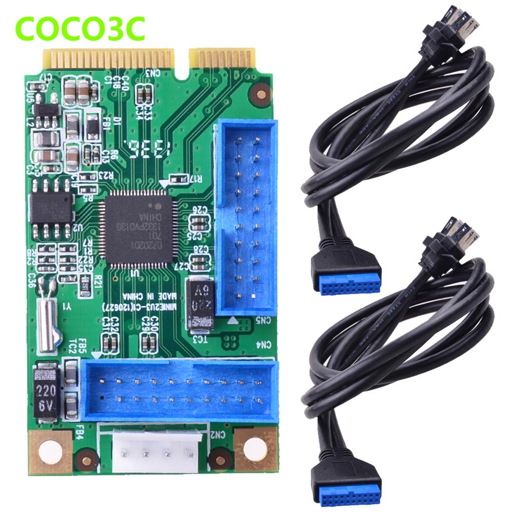 Mini Pcie To 2 Usb 3 0 Port Adapter Mini Card 19p Usb
