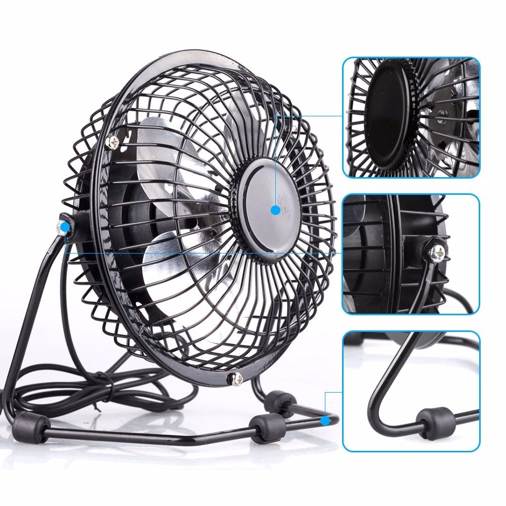 4 Quot Inch Mini Portable Usb Desk Fan Small Powerful Cooling