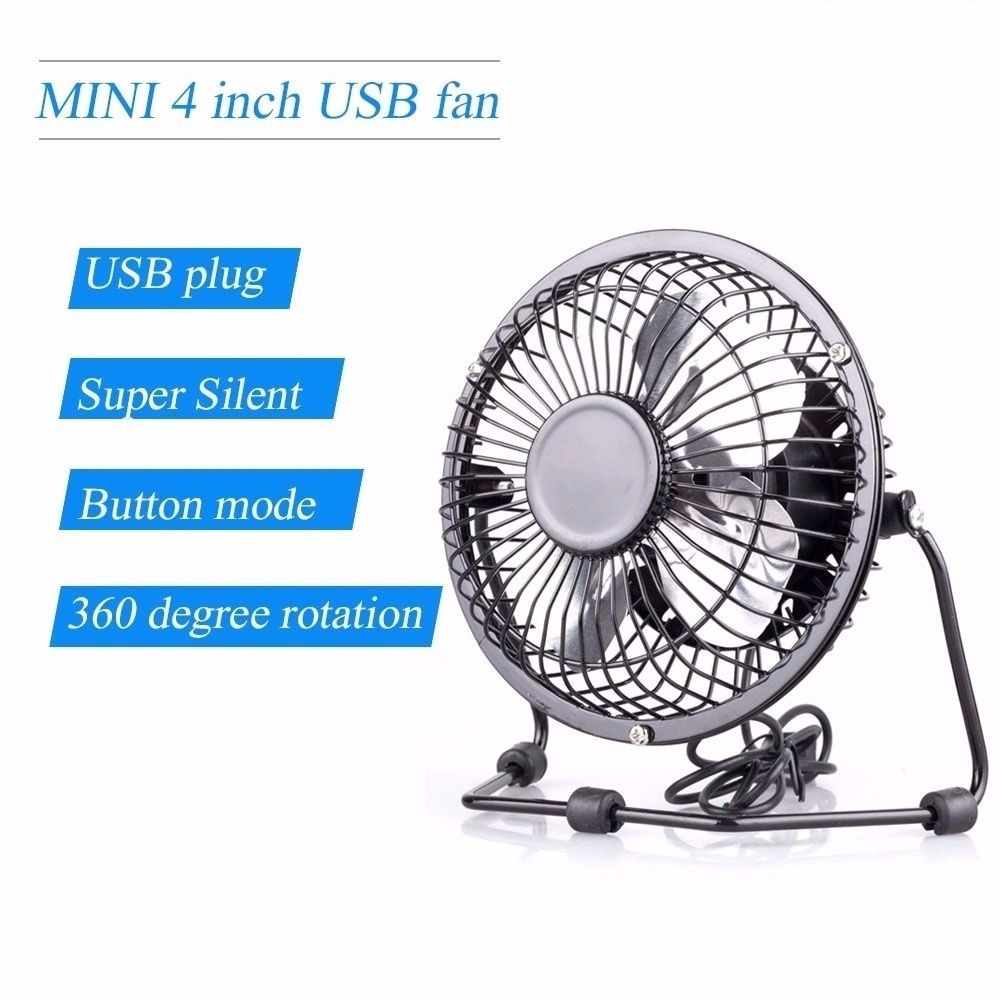 4 Inch Desk Fan : Quot inch mini portable usb desk fan small powerful cooling