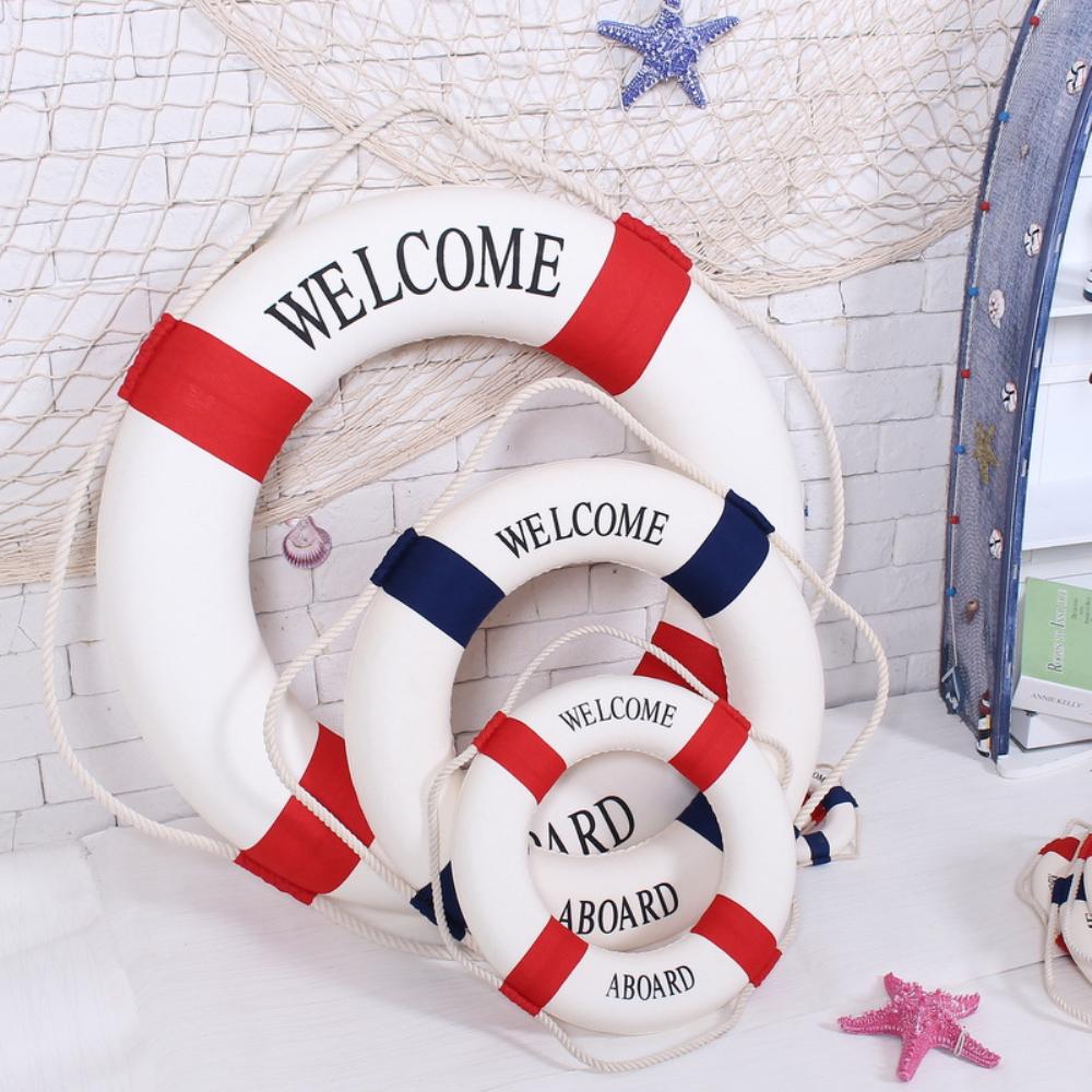 Deko handwerk rettungsring welcome aboard dekoration for Dekoration haus