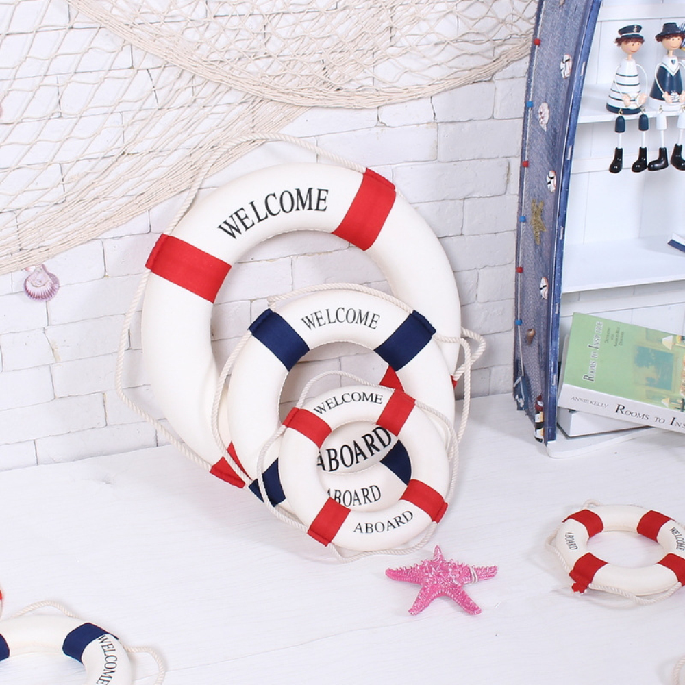 Wall Decorations For Engagement Party : Lifebuoy ornaments nautical decor wedding party home wall