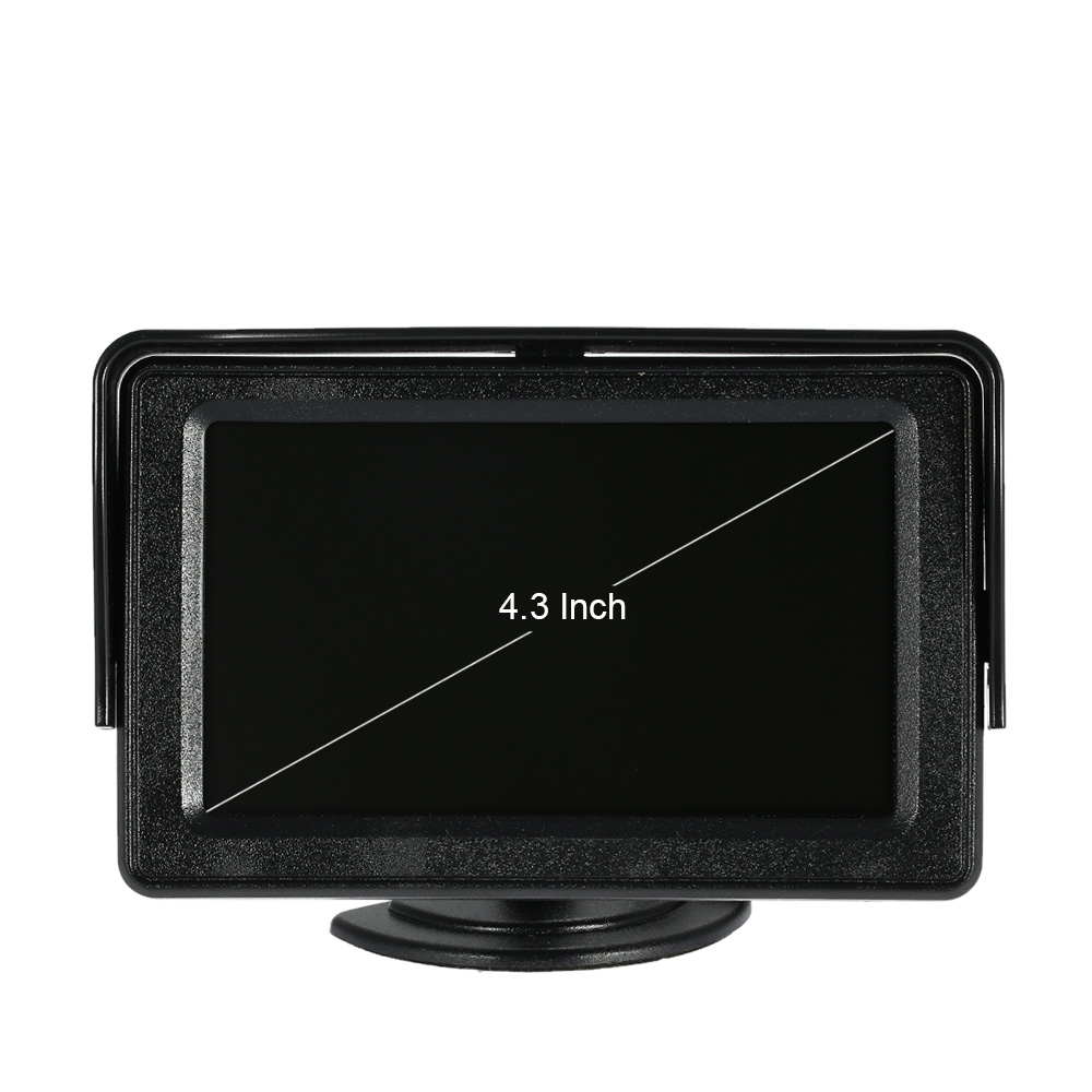 4 3 inch tft lcd car rear view monitor with wireless video. Black Bedroom Furniture Sets. Home Design Ideas