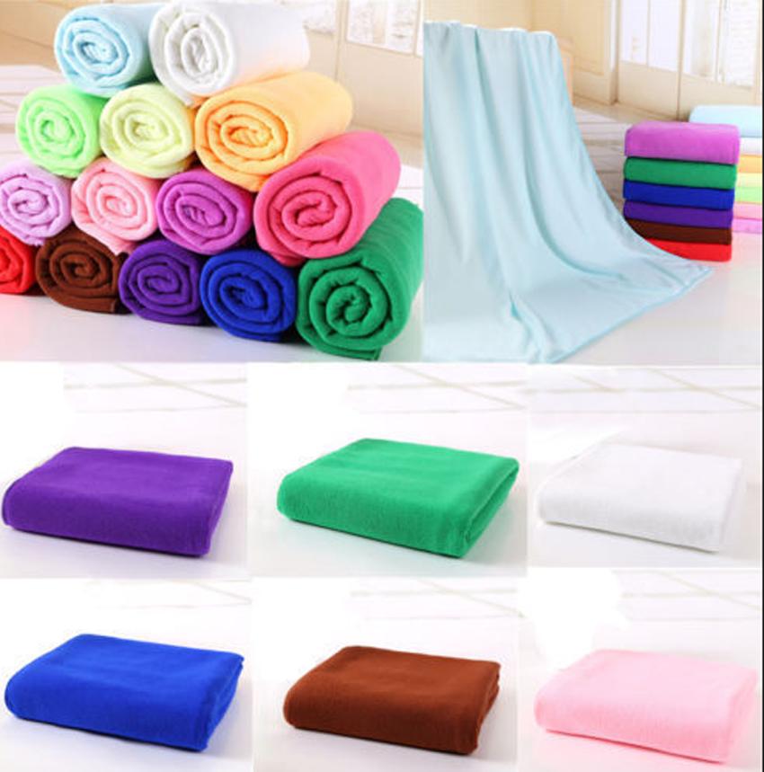 Beach Towel: Superfine Fiber 1 Pack, 70x140cm, Extra Large-Absorbent