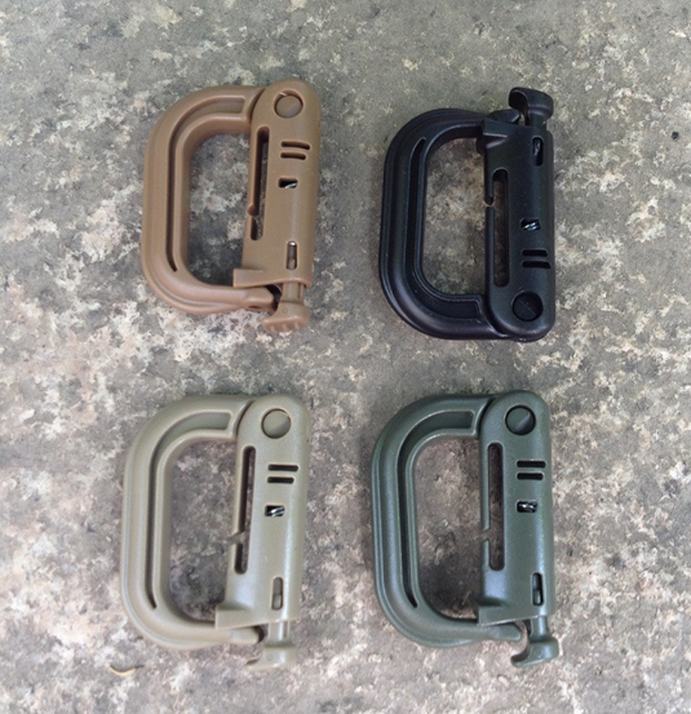 EDC Keychain Carabiner Molle Tactical Backpack Shackle Snap D-Ring Clip VGCASJCA