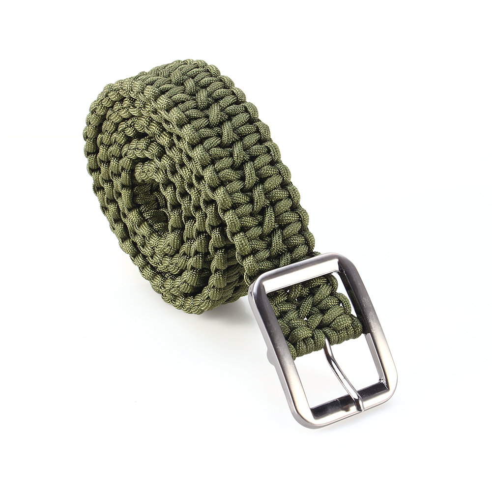 Paracord belt outdoor emergency survival 550lb milspec for How to make a paracord utility pouch