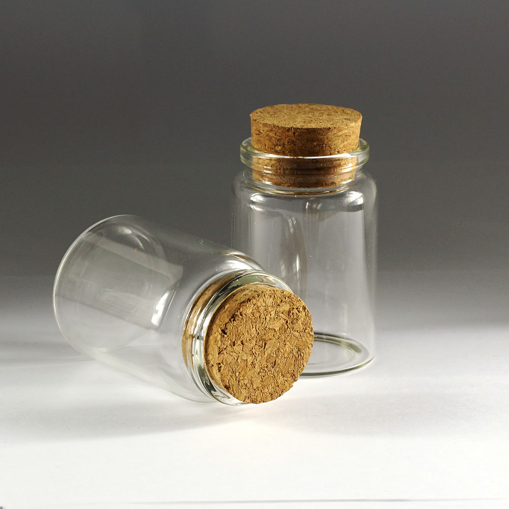 80ml SampleTranparent Glass Bottles With Corks Small Vials