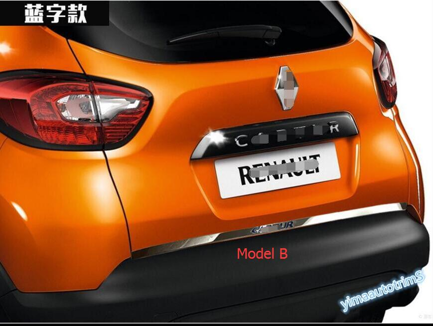 accessories for renault captur 2014 2016 rear tailgate trunk lid cover trim 1pcs ebay. Black Bedroom Furniture Sets. Home Design Ideas